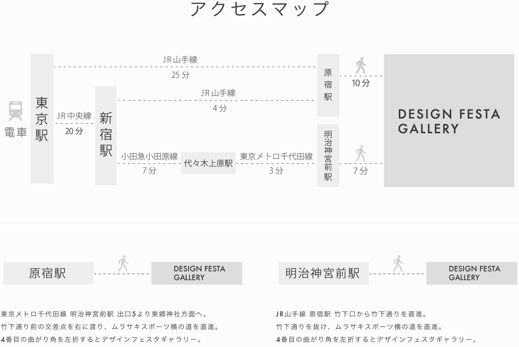( C ) DESIGN FESTA GALLERY http://www.designfestagallery.com/re/access/index_jp.html