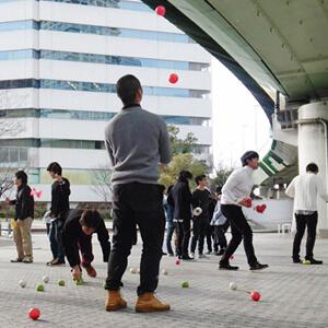 関西玉練習会、2月23日西梅田公園にて開催。
