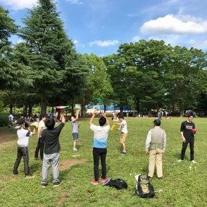 「ピザ回し練習会」6月8日、代々木公園にて開催。